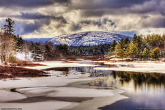 Acadia National Park, Maine (Greg from Maine) Tags: trees winter sky mountain snow clouds reflections landscape nationalpark scenic wonderland barharbormaine acadia barharbor mountdesertisland acadianationalpark coth sargentmountain