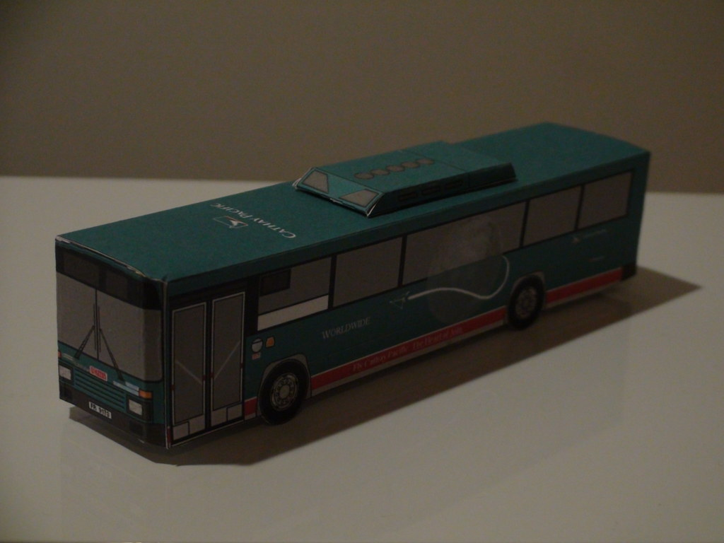 Cathay Pacific Paper Bus