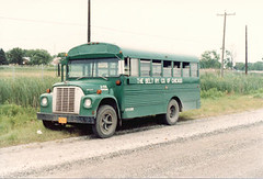 Belt Railway of Chicago early 1970's era International Harvester former school bus. Chicago Illinois. June 1984.