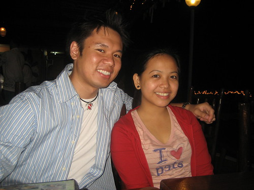 Belle and I at the restaurant in Tagaytay.