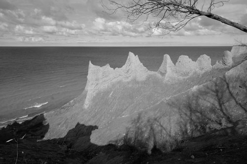 Chimney Bluffs, Distortion Corrected in Capture NX