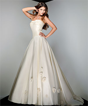 Luxurious bridal gown.