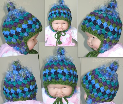 Little Girl's Adjustable Winter Hat-Free Crochet Pattern