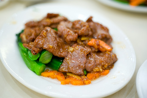 Sauteed sliced beef and vegetable, Yung Kee, Hong Kong