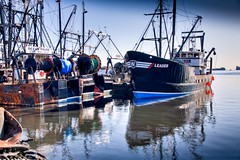 The Leader out of Cape May, New Jersey - Natural HDR settings (Paul Broderick) Tags: blue reflection water harbor fishing fleet hdr fishingfleet capemaynj photomatix fairhavenmassachusetts nikond90 lightroom2 newenglandcoastline massachusettsports
