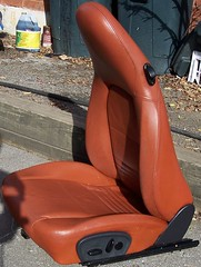 99PorscheCoupe13 (truckandcarseats) Tags: red leather 1999 porsche boxster coupe fronts