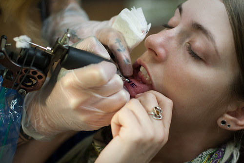 Lip Tattoo by AJ Manoulian