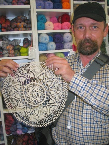 Beautiful crocheted doily