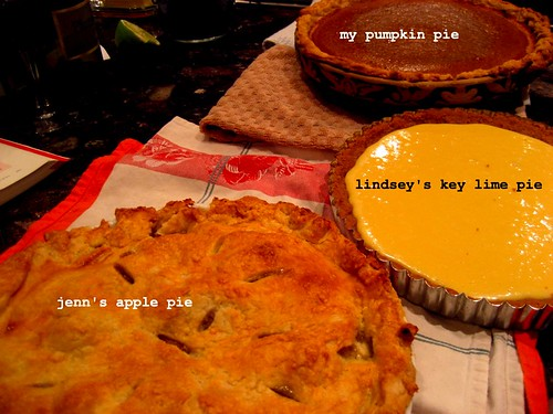 three happy pies