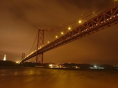 Lisboa, Ponte 25 Abril Bridge, Lisbon (Sir Francis Canker Photography ) Tags: ocean sanfrancisco california trip travel bridge light panorama mist tourism portugal rain misty fog skyline architecture night river puente golden noche nice arquitectura gate exposure view shot suspension lisboa lisbon gorgeous fiume sintra abril foggy dramatic landmark visit tourist best atlantic ponte most civil 25 april vista noite lissabon visiting ever tejo tajo nuit vasco notte tagus oceano portogallo atlantico  brucke gama          tz10 zs7 pacocabezalopez