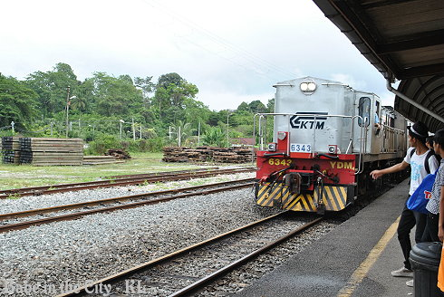 K.Lipis Train Station - ooo train arrived