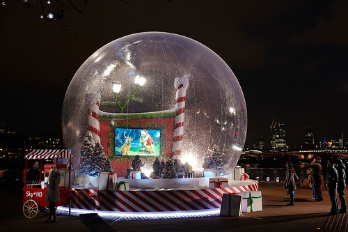 there is also a video of the sky movies hd christmas snow globe on youtube here - Large Christmas Snow Globes