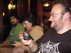 Álvaro (Bori), Noemí (Boquitas pintadas) y Goyo (M@k) en Vaticina 2009