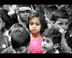 ab mera number hai (Gulfu) Tags: portrait white black face canon crowd colouring selective 55250mm 1000d