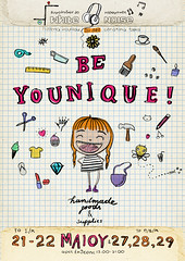 Be Younique! (crosti) Tags: love girl illustration poster happy sketch sweet handmade unique christina craft sketchbook exhibition event charcoal bazaar tsevis crosti beyounique gcreations
