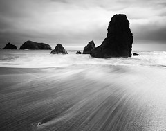 Sands of Time (Chris Delle) Tags: ocean california blackandwhite bw beach water landscape sand wip bayarea westcoast 1020 rodeobeach sharpened sigma1020mm neutraldensityfilter 10stop nd1000 40d