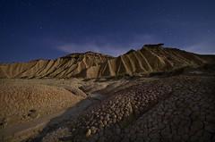 Walking on the moon (Domingo Horcas) Tags: paisajes night landscape nocturnas bardenas sigma1020 pentaxk5