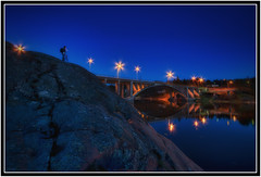 photographer (Joni Aarnio) Tags: bridge light sea night suomi finland nikon long exposure d sigma 1020mm 90 hdr joni naantali aarnio airhardt