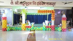balloon decoration in hall at Virar