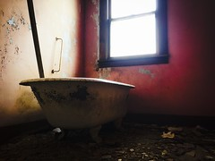 """She said """"I'll draw the bath for you""""...(house with the white picket fence) (Aces & Eights Photography) Tags: abandoned abandonment decay ruraldecay oldhouse abandonedhouse"""