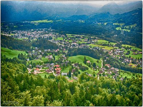 Ewige Wand - Blick vom Steig ins Tal