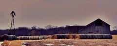 dilapidated...(HWW) (BillsExplorations) Tags: windmill windmillwednesday dilapidated waterpump barn barnsandfarms hay bales field farm illinois fountaingreen cows feed old vintage broken oldfashioned decay rust