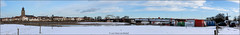 Deventer panorama (Hans van Bockel) Tags: 1680mm bridge bruggen city d7200 deventer hansvanbockel ijssel landschap lightroom nef nikon photoshop raw rivier stad stadsfront wandelen wilhelminabrug winter sneeuw thenetherlands nld pano panorama explore worldcitycenters