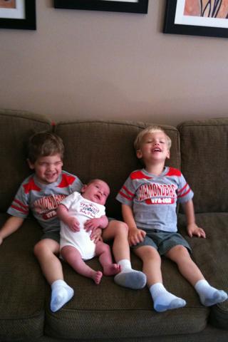 Boys in Diamondbacks Shirts