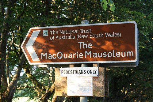 The MacQuarie Mausoleum (sign)