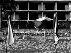 Neglect 296 (janis kwasney...[on_off]) Tags: blackandwhite building abandoned beach water landscape mexico hotel jalisco playa visualart janique lumixaward internationalgeographic