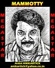 Sketching portrait of MAMMOOTTY the MEGA STAR of MALAYALAM CINEMA   Artist ANIKARTICK