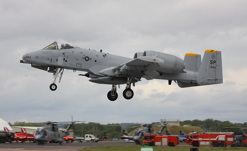 A10 Thunderbolt 'Warthog' RIAT09 Royal International air tattoo Arrivals day