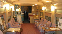 The interior of a preserved 1920's era Atchinson, Topeka & Santa Fe heavyweight Parlor /Sleeping car. The Illinois Railway Museum. Union Illinois. Friday, July 3rd 2009.