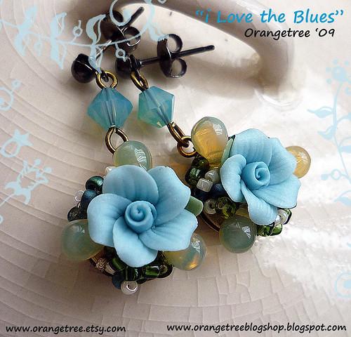 I love the blues - earrings
