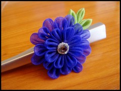 Purple power (Hatsu-chan^^) Tags: dahlia flower japanese petals blossoms plum pearls stamens mum maiko ume chrysanthemum comb folding hairpin kiku tsumami kanzashi kushi