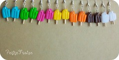 Popsicles earrings, fimo polymer clay (*Merylu*  PetiteFraise) Tags: summer food orange hot color colour cute ice handicraft juicy lemon rainbow strawberry colorful estate cola sweet handmade cream mint craft jewelry bijoux fresh jewellery fimo clay pineapple icecream gelato earrings colourful arcobaleno popsicle facebook flavour anise polymer ghiacciolo orecchini petitefraise merylu