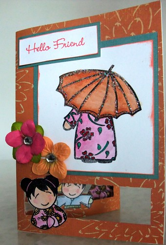 Hello Friend Tri-Fold Card