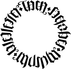 """Tara"", ""Fletcher"", ""Murphy"" & ""Wellesley"" Circle Ambigram"
