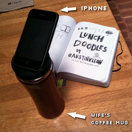 My hi-tech Iphone tripod: