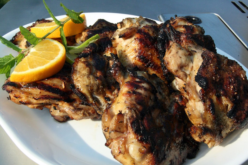 slow grilled tequila-citrus chicken