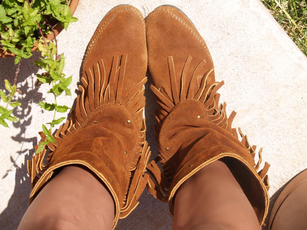 Fringe Minnetonka boots