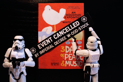Woodstock Festival cancelled by Imperial decree