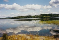 In the mirror (catarina.berg) Tags: sky lake clouds reflections mirror sweden sverige vrmland vrmeln