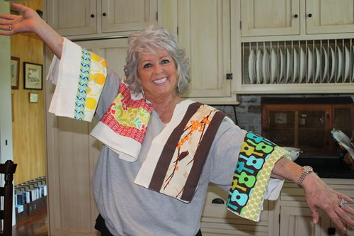 Paula Dean with my dishtowels