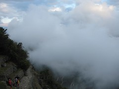 clouds over Machu Picchu mtn