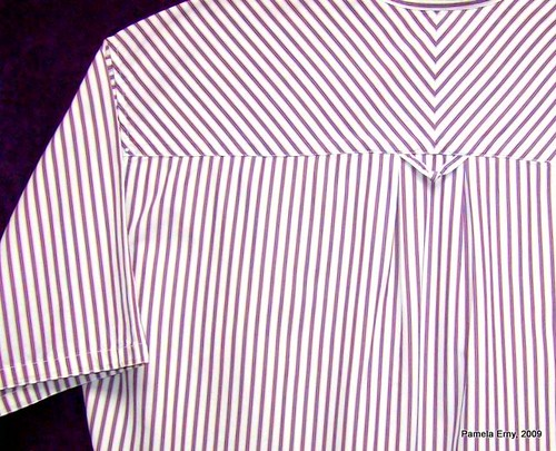 Mens Stripe Shirt Back