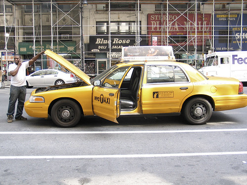 Stuck cab, 8th Avenue