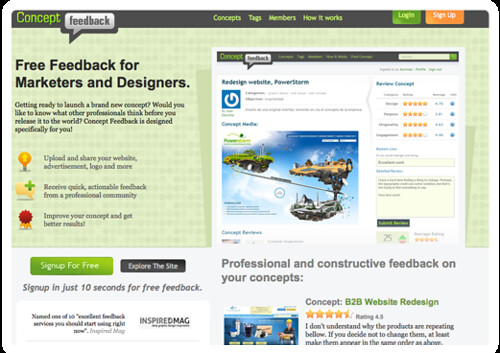 Concept Feedback  Free Concept Reviews for Marketers, Designers and Developers