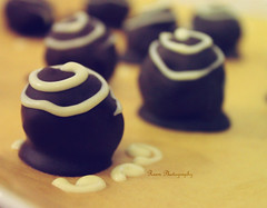 Chocolate truffles (Reem eng) Tags: by yum time sweet chocolate delicious homemade photoshoped whitechocolate truffles darkchocolate reem