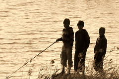 fishing boys (@ulli0703) Tags: summer water reflections germany deutschland see fishing wasser sommer brandenburg rheinsberg hafendorf impressedbeauty